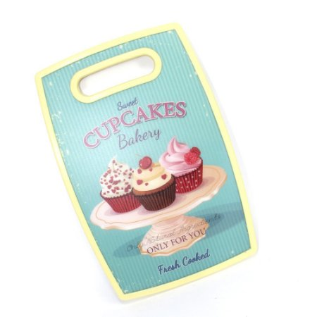 Tábua de Corte Cupcake Amarela