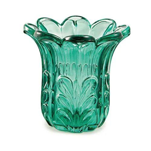 Vaso de Vidro Esmeralda Médio