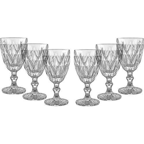 Jogo de 6 Taças Vinho Transparente  Vitral Verre - Mimo Style