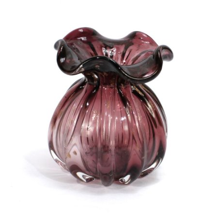 Vaso de Vidro Sodo-Cálcico Italy Púrpura e Rose 11Cm - Lyor