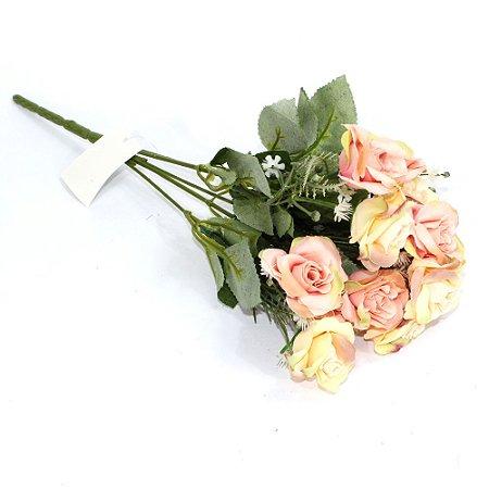 Buquê Flores Rosas Salmão
