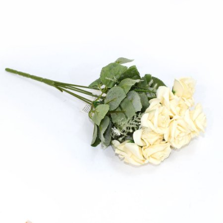 Buquê Flores Rosas Creme