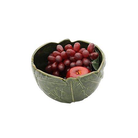 Bowl Folha Decorativa Leaf Verde 21 cm