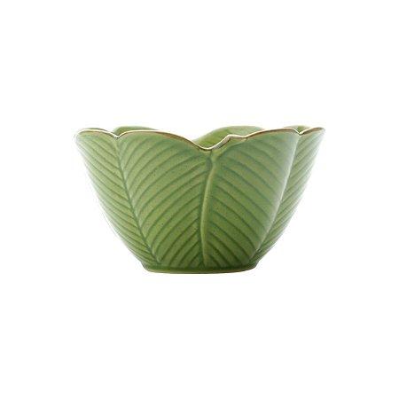 Travessa  de Cerâmica Banana Leaf Verde16 cm