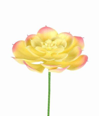 Suculenta Echeveria Rosa Artificial 10 cm