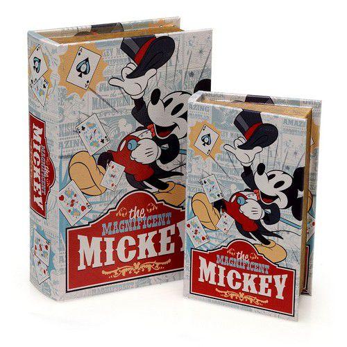 Caixa Porta Objetos e Livros Mickey