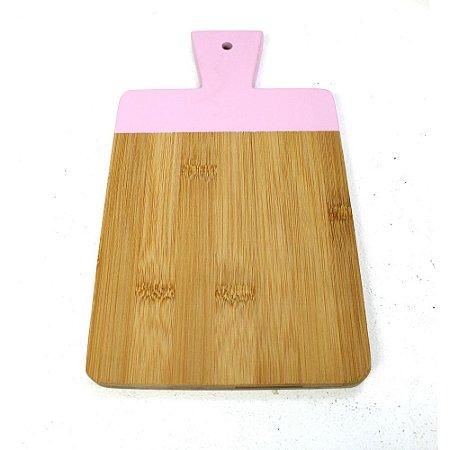 Tábua de Corte Bambu com Rosa