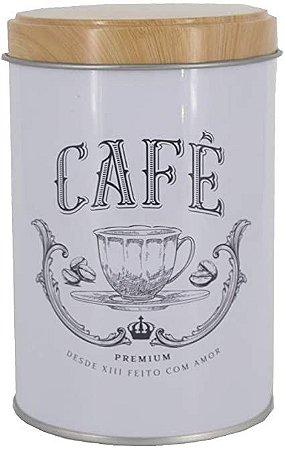 Lata Café Branca Estilo Rústica