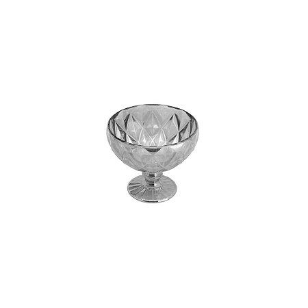 Jogo com 6 Taças Coupe Diamond Cinza Metalizado - Lyor