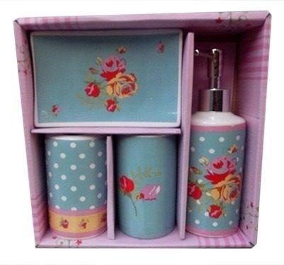 Kit para Banheiro - Retrô Poá