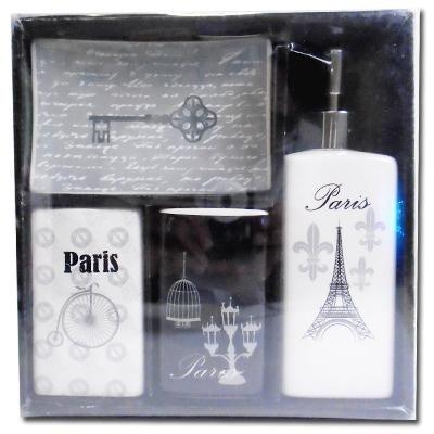 Kit para Banheiro - Paris Black