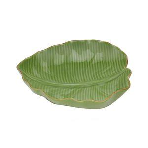 Folha de Cerâmica Banana Leaf Verde 23,5 cm