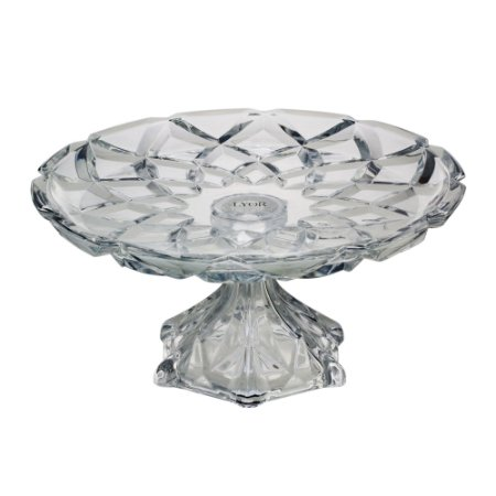 Travessa com Pé de Cristal de Chumbo Deli Diamond 31 cm - Lyor