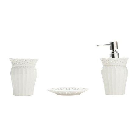 Kit Banheiro Branco Atena 3 peças - Lyor