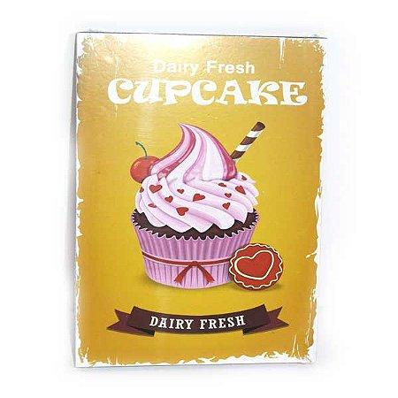 Quadrinho Decorativo Dairy Fresh Cupcake