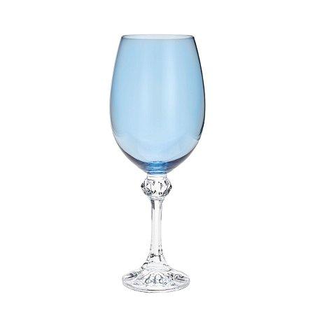 Conjunto de 06 Taças Cristal Ecológico Para Vinho Elisa Island Paradise 450 ml