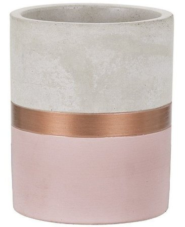 Vaso Cimento Cobre e Rosa 8 cm