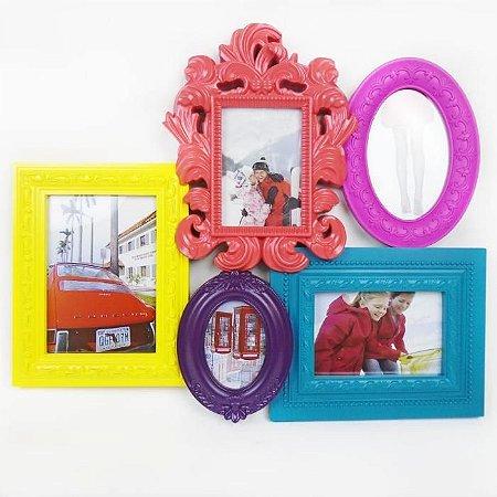 Quadro Porta Retrato - 5 fotos Colors