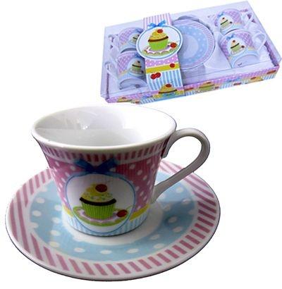 Jogo de Xícaras para Café - Cupcake