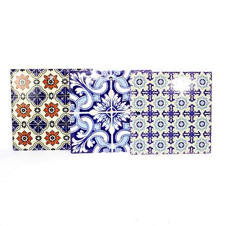 Jogo de Descanso de Panelas Azulejos