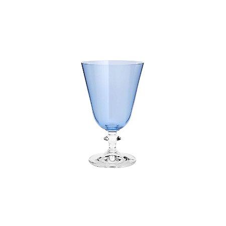 Conjunto de 06 Taças Cristal Para Vinho Tinto Bella Azul - Bohemia