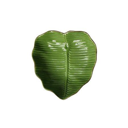 Folha de Cerâmica Banana Leaf Verde 16 cm