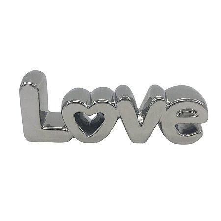 Palavra Love Prata