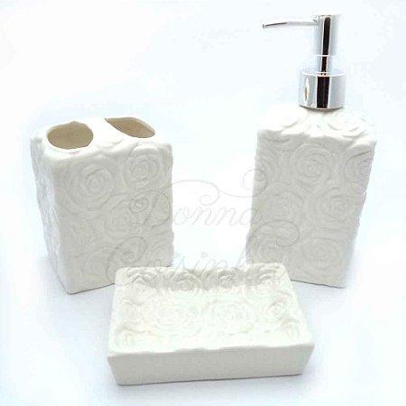 Kit para Banheiro - Rosas