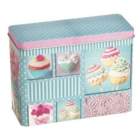 Lata Retangular - Cupcake