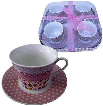 Jogo de Xícaras para Chá - Losango Poá