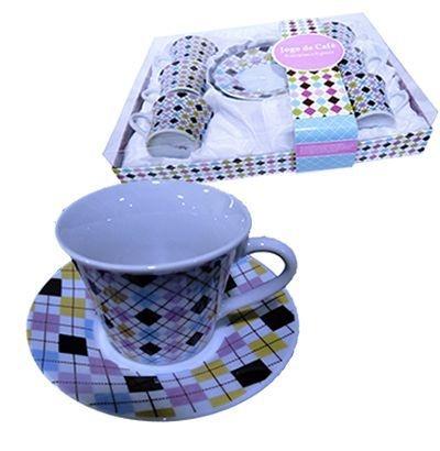 Jogo de Xícaras para Café - Xadrez
