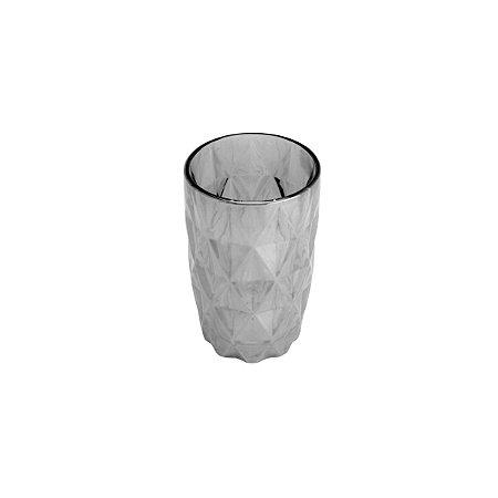 Conjunto de 06 Copos Vidro Diamond Cinza Metalizado - Lyor