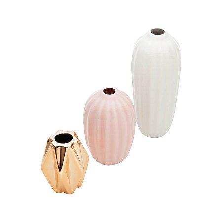 Trio de Vasos Porcelana Royal