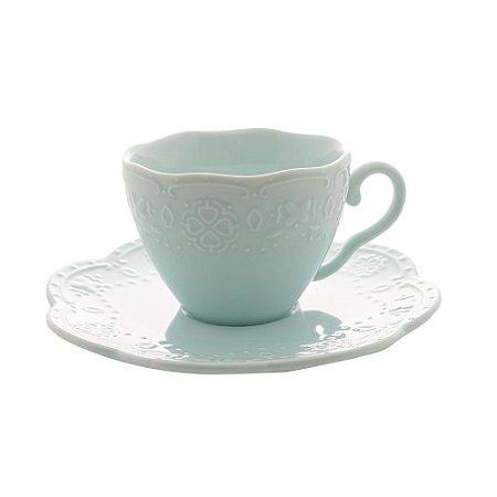 Jogo de 4 Xícaras para Café Butterfly Azul Claro 120ml
