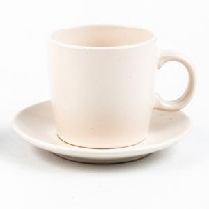 Conjunto de 4 Xícaras de Chá Cerâmica Granilite Marfim 200ml