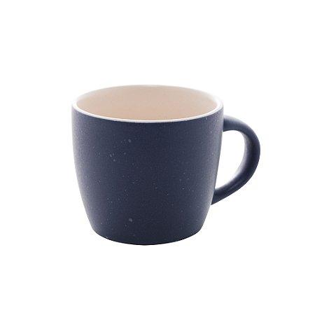 Conjunto de 04 Canecas Para Café Granilite de Cerâmica Azul