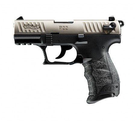 Pistola Walther P22 Nickel - Cal .22 LR - 10+1 Tiros