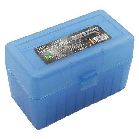 Caixa P/ Munição Tático 50c Grande Azul Ntk