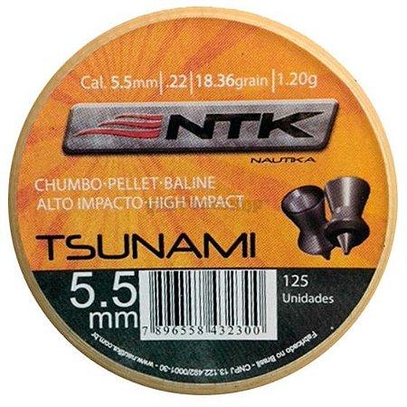 Chumbinho Ntk Modelo Tsunami Cal. 5,5mm - 125un