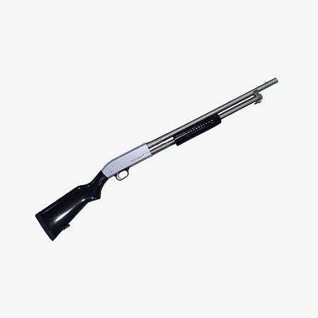 Espingarda Boito BSA 5T 84 PUMP cal 12 com coronha PP ou Pistol Grip - Toda Niquelada
