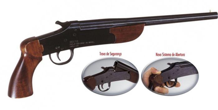 Pistola Boito B-300 cal. 28,32 e 36 (300 mm) - Com Coronha Curta – Acabamento Standard Oxidado