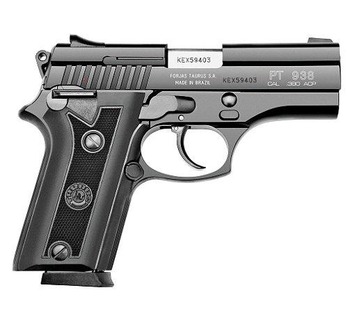 "Pistola Taurus PT938 - .380ACP - 3,7"" - 15+1 Tiros - Inox Fosco / Carbono Fosco"