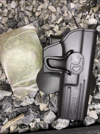 Coldre Externo Destro Glock Standard- Glock G17, 22 e 31 - Polímero