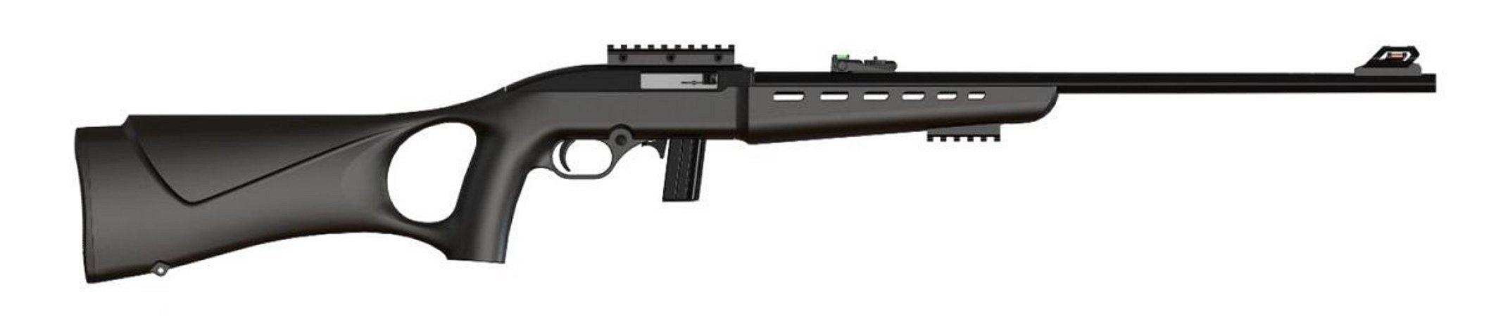 """7022 Rifle CBC Semiautomático Way Cal. 22LR - Cano 21"""" - 10 Tiros - Oxidado"""