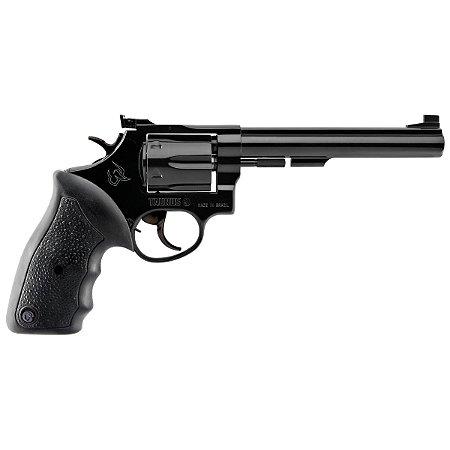 """Revolver Taurus RT96 6"""" Cal.22 - Cabo De Borracha - 6 Tiros - Carbono fosco e brilhoso"""