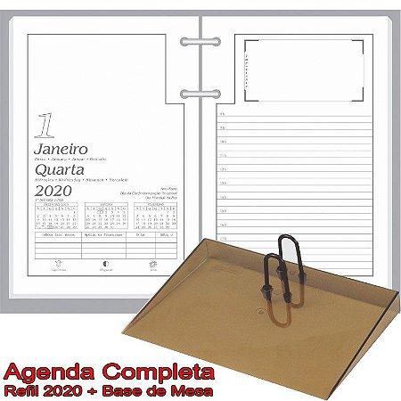 Agenda de Mesa REDOMA Calendário Comum 2020 R. 501 Branco + Base Fumê