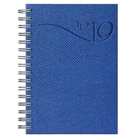 Agenda Diária Espiral Pombo 14,1 X 20,5 Cm, Capa Sisal Cor Azul