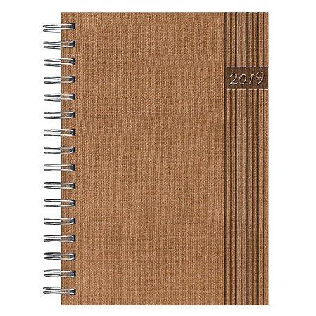 Agenda Diária Espiral Pombo 14,1 X 20,5 Cm, Cap. Nature Cor Terracota