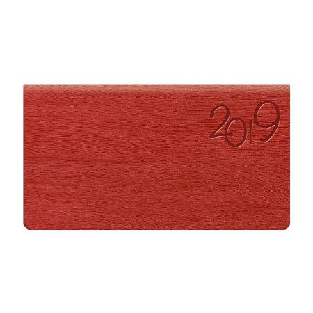 Agenda de Bolso Semanal Pombo 15,0 X 8,0 cm Gardena Vermelha