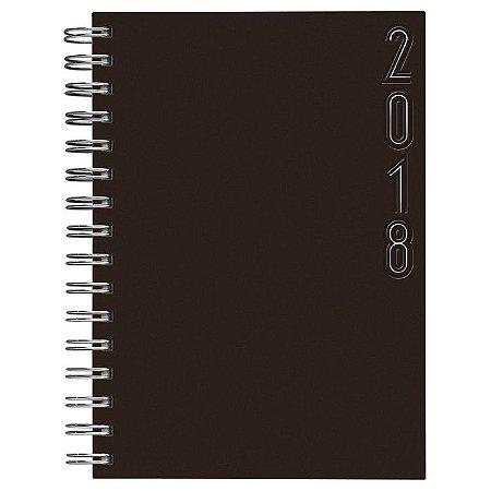 Agenda de Mesa Semanal Espiral Pombo 2018, 20,3 X 27,5 Cm, Capa Matra Cor Cafe